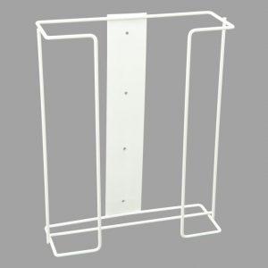 Triple Wire Glove Dispenser Wall Bracket - White