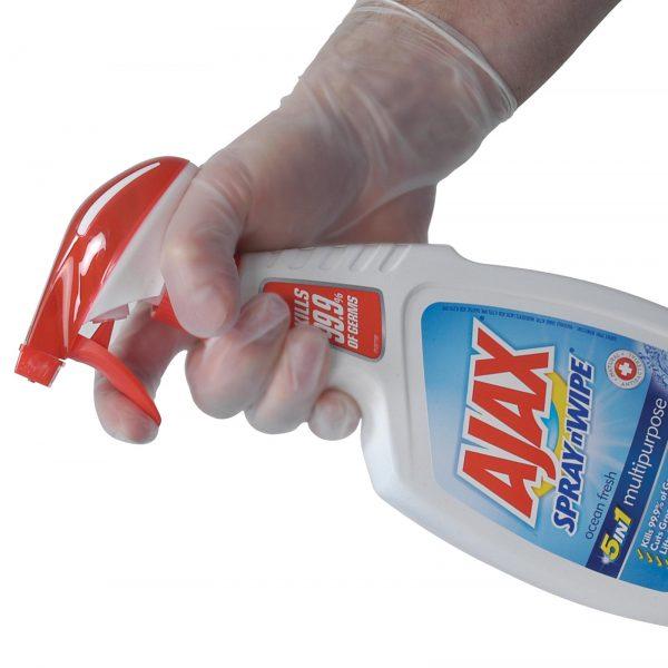 Gloves Vinyl Clear Powder Free