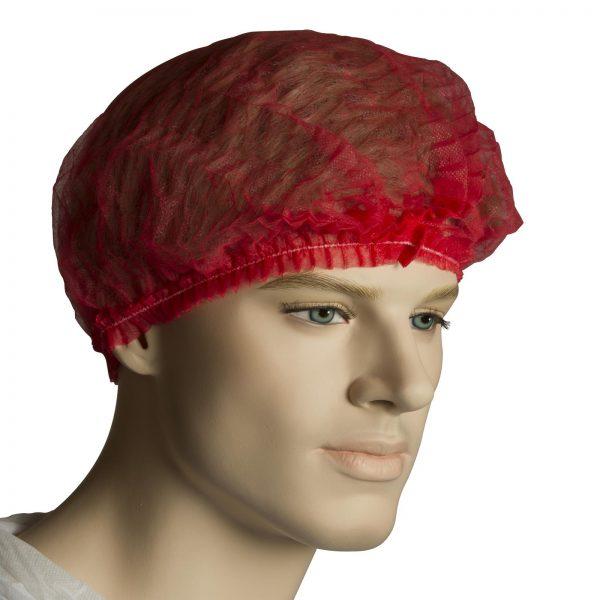 """Crimped Beret 21"""" Disposable Cap (hair Net)"""
