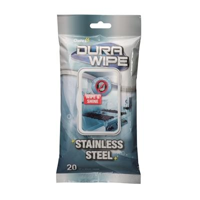 Oates Dura Wipe Stainless Steel Box Of 6
