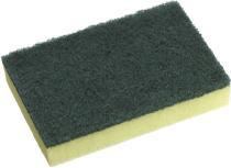 Standard Green Scourer Yellow Sponge 10 Pack